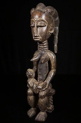 Discover African Art: Beautiful Attie Maternity Figure from Ivory Coast