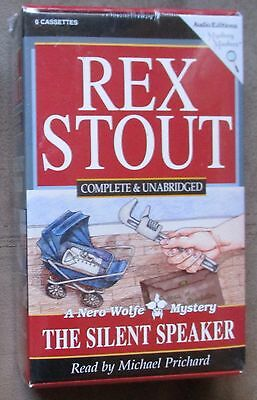 Rex Stout SILENT SPEAKER 6 cassettes NEW unabridged
