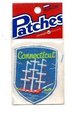 Connecticut Ship Voyager Travel Souvenir Patch - Brand New - Free Shipping