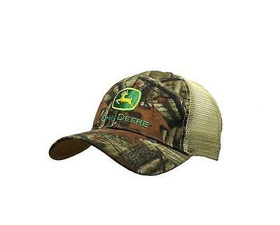 New Men's John Deere Mossy Oak Camo Hat / Cap w/ Mesh Back - LP55386 Nice!