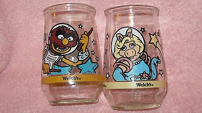 Vintage  'muppets In Space'  1998 Welch's Jelly Glasses