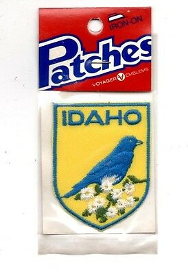 Idaho Bluebird Voyager Travel Souvenir Patch - Brand New - Free Shipping