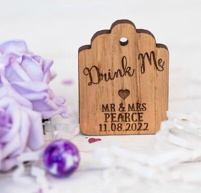 Alice in Wonderland Drink me tags - drink me labels
