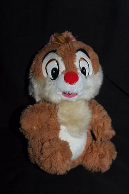 """Chip and Dale Plush Chip Chipmunk 9"""" Disney Store Exclusive Extra Fuzzy"""