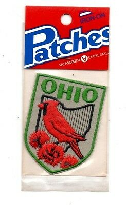 Ohio Cardinal Voyager Travel Souvenir Patch - Brand New - Free Shipping