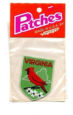 Virginia Cardinal Voyager Travel Souvenir Patch - Brand New - Free Shipping