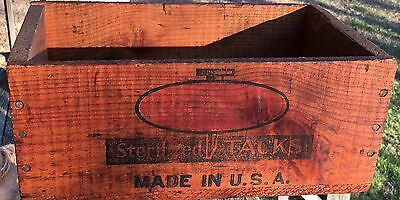 VINTAGE CROSS TACKS WOODEN CRATE  STERILIZED TACKS Wood BOX ANTIQUE