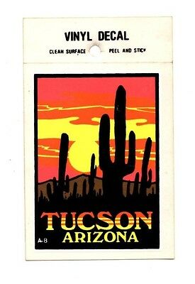 Lot of 12 Tucson Arizona Cactus Souvenir Luggage Decals Stickers - New, Free S&H