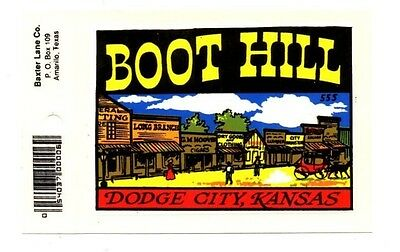 Lot of 12 Boot Hill Dodge City, Kansas Luggage Decals Stickers - New - Free S&H