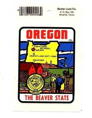 Lot of 12 Oregon Beaver State Souvenir Luggage Decals Stickers - New - Free S&H
