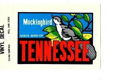 Lot of 12 Tennessee State Bird Souvenir Luggage Decals Stickers - New - Free S&H