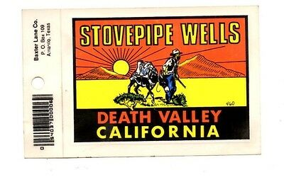 Lot of 12 Stovepipe Wells Souvenir Luggage Decals Stickers - New, Free S&H