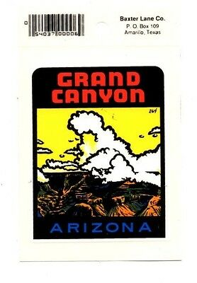 Lot of 12 Grand Canyon Arizona Luggage Decals Stickers - New - Free S&H