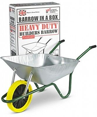 Walsall Galvanized Wheelbarrow With Puncture Proof Wheel - 85L