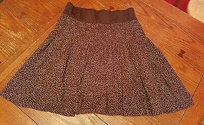 Gap Maternity brown cotton skirt, size Med