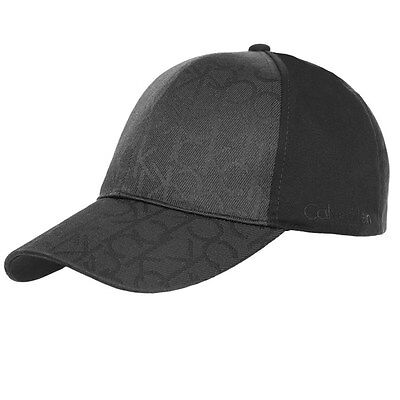 New Mens Calvin Klein Black Logo Cotton Cap Baseball Caps