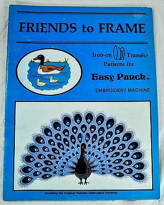 Friends To Frame Iron On Transfer Patterns For Easy Punch Embroidery 1983