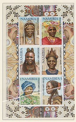 (SWB-80) 2002 Namibia M/S traditional head dresses for females creased (CD) MUH