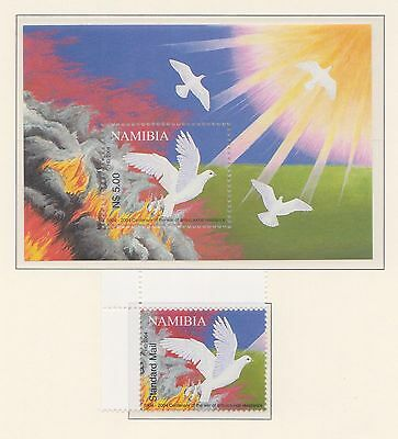 (SWB-91)2004 Namibia 1stamp &M/S Centenary of war of anti-colonial resistanceMUH