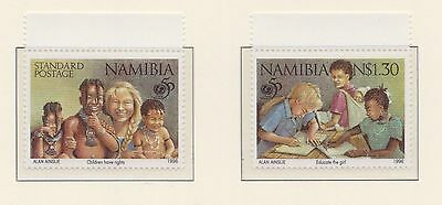 (SWB-16) 1996 Namibia 2stamps 50th anniversary of UNICEF MUH