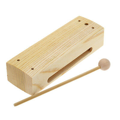 Quatro PERCUSSION MEDIUM Holzschnitt/Holz mit Abstreifer Ton Block UK Verkäufer