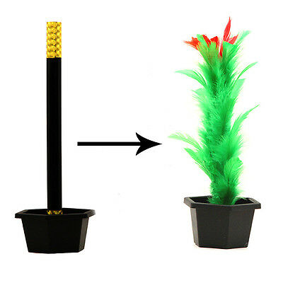 1Set Kid Toy Gift Magic Trick Show Prop Flower Feather Sticks Comedy Party Stage