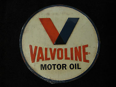 New Valvoline Motor Oil Embossed Metal Sign