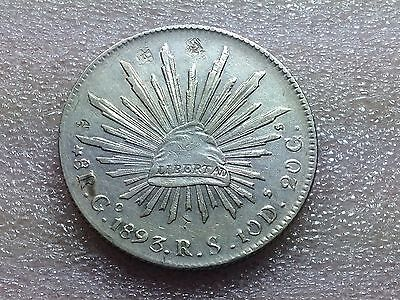 1893 Go RS Mexico Cap & Rays 8 Reales with Nice Chinese Chopmarks