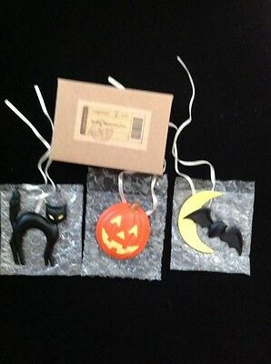 Longaberger Halloween Fun Tie On- Set Of 3 - NIB