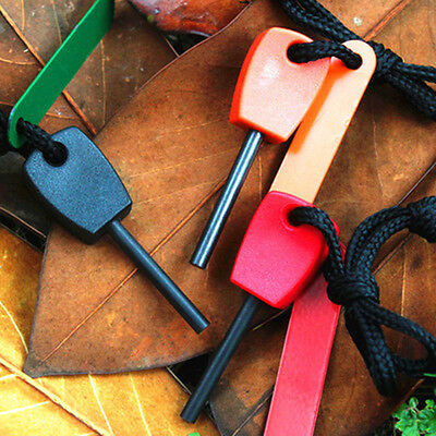 Outdoor Camping Steel Flint Stone Rod Fire Starter Lighter Magnesium Survival