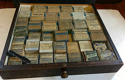 c1900 Apothecary Herbs Medicine Store Drawer Cabinet with Original Packages