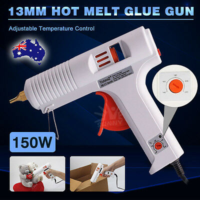 Glue Gun Adjustable 150W Full Size Hot Melt Interchangeable Non-drip Nozzle
