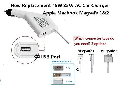 New 45W 85W Car Charger Power Supply Adapter Apple MacBook Air Pro1&2 replacemen