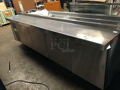 Randell Stainless 4 Door Refrigerated Pizza Prep Table 84111NPCB