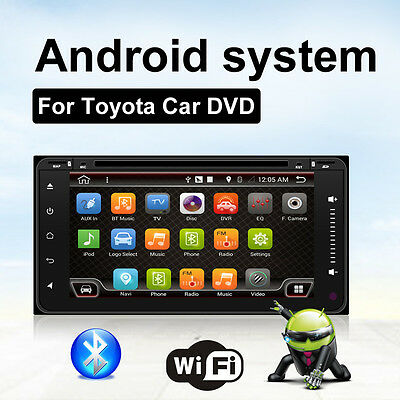 """2G RAM 7""""Android6.0 4Core WIFI Car DVD Mirror GPS Navi System BT DAB+For Toyota"""