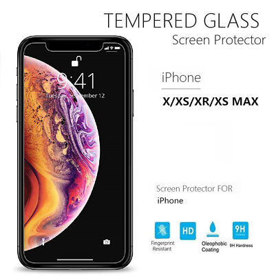 [Retail Box] 9H Real Tempered Glass Screen Protector for iPhone XS MAX/XR/XS/X/8