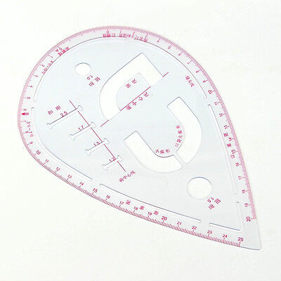 Quilting Sewing Patchwork Cloth Drawing Collar Curve Ruler Cutting Tailor Scale