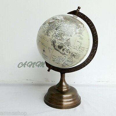 Antique Base World Globe Vintage Style Table Top Decorative
