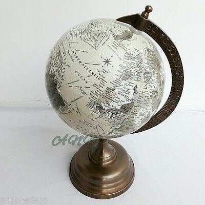 Antique Base World Globe Vintage Style Table Top Decorative Gift