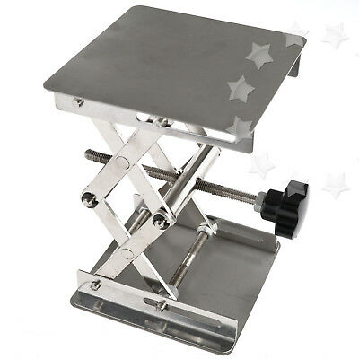 4'' Stainless Steel Lab Stand Table  Lift laboratory Jiffy Jack 100*100mm