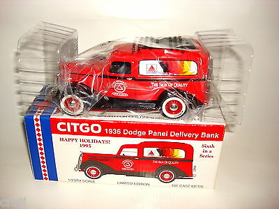 Citgo 1936 Dodge Panel Delivery Truck  Liberty Diecast Bank  NEW In Box