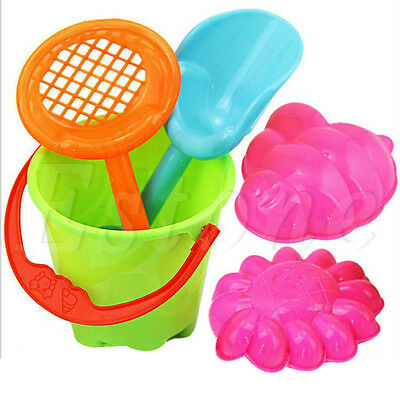 Tiny Beach Sand Toys Tools Bucket Set For Toddler Kids Children