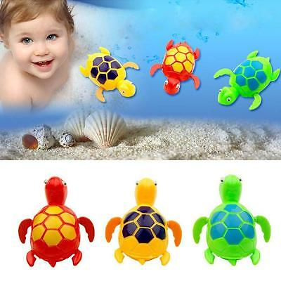 Wind-up Turtle Swimming Pool Bath Time Animal Clockwork Floating Kid Baby Toy GU
