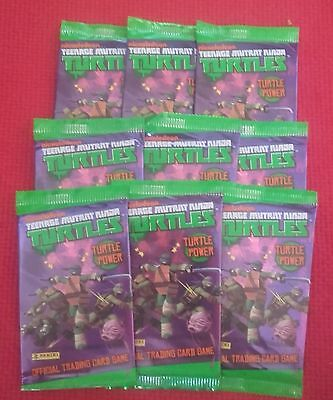 PANINI TEENAGE TURTLES NINJA 9 UNOPENED Booster Bags new & vintage Trading Cards