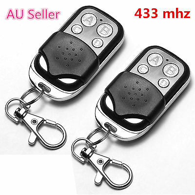2Pcs Universal Cloning Remote Control Key Fob for Car Garage Door Gate 433Mhz