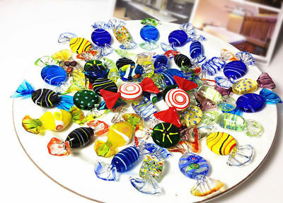 24pcs Vintage Murano Glass Sweets Wedding Candy Christmas Ornaments Decorations