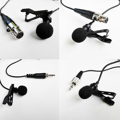 Lapel Lavalier Microphone 3.5mm XLR Jack Mic For Various Wireless transmitter