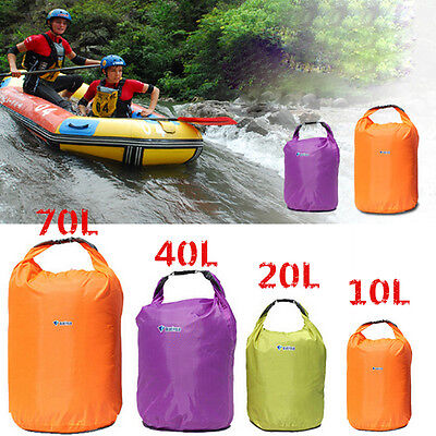 10L-70L Waterproof Dry Bag Outdoor Camping Sack Kayak Boat Duffle Backpack Pouch