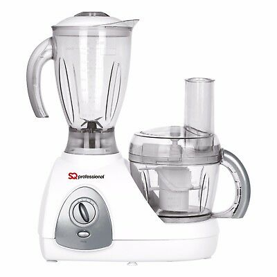 White 500W Electric Multi Food Processor Blender With Chopper Jar Smoothie Gift