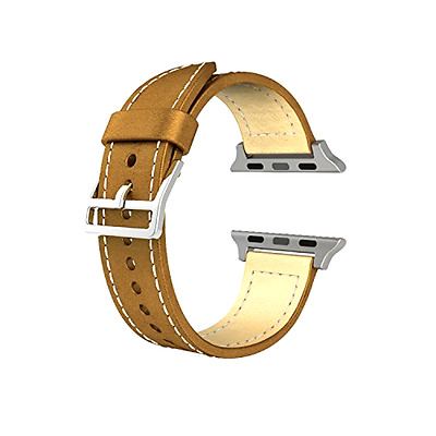 Genuine Leather Band Replacement for Apple Smart Watch, Brown, Accessories NEW